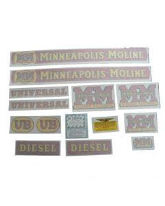 102725 | Minneapolis Moline Decal Set | UB Diesel | Vinyl | Minneapolis Moline UB |