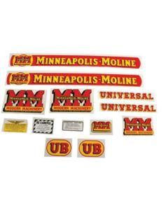 102776 | Minneapolis Moline Decal Set | UB | Mylar | Minneapolis Moline UB |
