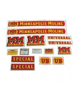 102777 | Minneapolis Moline Decal Set | UB Special | Mylar | Minneapolis Moline UB |