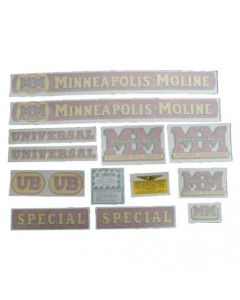 102724 | Minneapolis Moline Decal Set | UB Special | Vinyl | Minneapolis Moline UB |