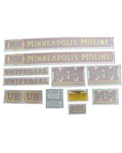 102723 | Minneapolis Moline Decal Set | UB | Vinyl | Minneapolis Moline UB |
