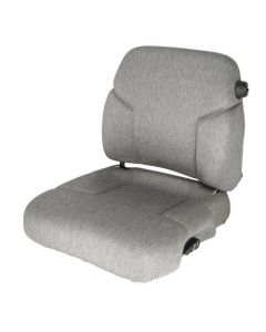 Seat and Backrest w/Lumbar, Fabric, Gray, New, Case IH, 131181A2, 134128A1, 134128A2, 134181A1
