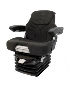 127451 | Seat Assembly - Air Suspension | Fabric | Black/Gray | Allis Chalmers 6060 6080 7000 7010 7020 7030 7040 7045 7050 7060 7080 |