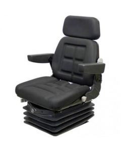 155705 | Seat Assembly - Air Suspension with Armrests | Durable Fabric | Black | AGCO DT160 DT180 DT200 DT220 DT225 DT240 LT70 LT85 LT90 RT95 RT100 RT115 RT120 RT130 RT145 RT150 8610 8630 | Allis Chalmers 8745 8765 8785 9130 9150 9170 9190 9435 9455 |