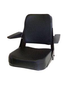 122509 | Seat Assembly | Comfort Classic | Fabric | Black | Allis Chalmers 185 200 6060 6070 6080 7000 7010 7020 7040 7060 8010 8030 8050 8070 | Bobcat 600 700 | Case 480C 480D 480E 480ELL 480F 480FLL 480LL 580C 580D 580SD 584 585 586 680CK 680E 680H |