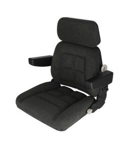 Seat Assembly Fabric Charcoal Gray fits Massey Ferguson fits Case IH fits Steiger fits McCormick fits Ford fits Allis Chalmers fits New Holland