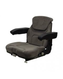 Seat Assembly Fabric Gray Fully Fold able fits Massey Ferguson fits Case IH fits Steiger fits McCormick fits Ford fits New Holland
