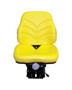 116593 | Seat Assembly - Mechanical Suspension | Vinyl | Yellow | AGCO LT70 LT85 LT90 RT95 RT115 8775 | Allis Chalmers 8745 8765 8785 | Deutz 6250 6275 | John Deere 5103 5203 5210 5220 5300 5303 5310 5320 5403 5410 5420 5510 5520 | Massey Ferguson 396 |