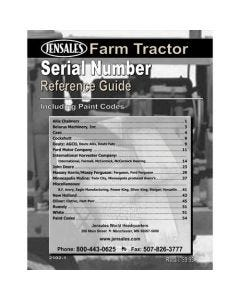 116539 | Serial Number Reference Book |
