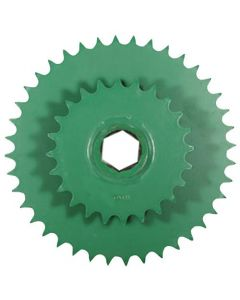 121256 | Sprocket - Double | Lower Drive Roller | John Deere 446 447 448 449 456 457 458 459 466 467 546 547 556 557 558 559 566 567 |  | AE54302 | AFH205819