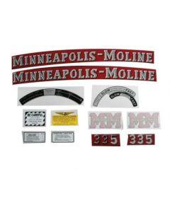 102797 | Tractor Decal Set | Minneapolis Moline 335 | Mylar | Minneapolis Moline 335 |