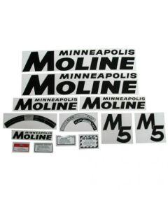 102790   Tractor Decal Set   Minneapolis Moline M5   Black   Mylar   Minneapolis Moline M5  