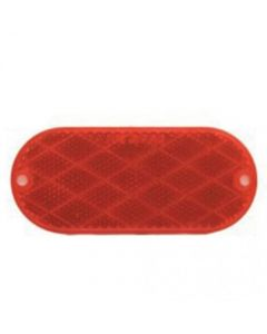 157133 | Trailer Reflector | Red | Oval | 4-3/8