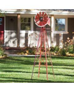 155721 | Windmill | Decorative | Red/White | 8' |